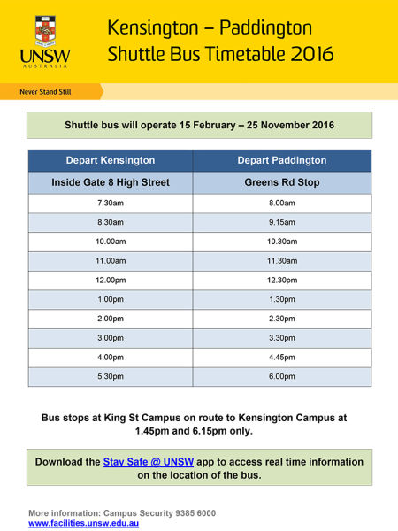 unsw law timetable